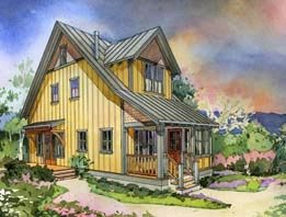 the alder cottage two - Perfect Little House Plans