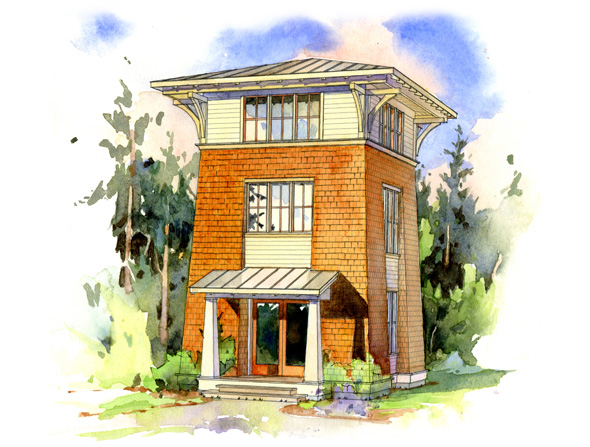the alder tower perfect little house ForTower House Plans