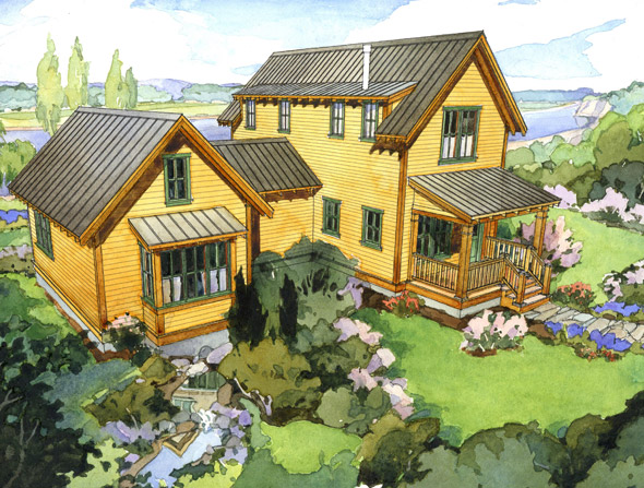The cherry three perfect little house for Perfect small house plan