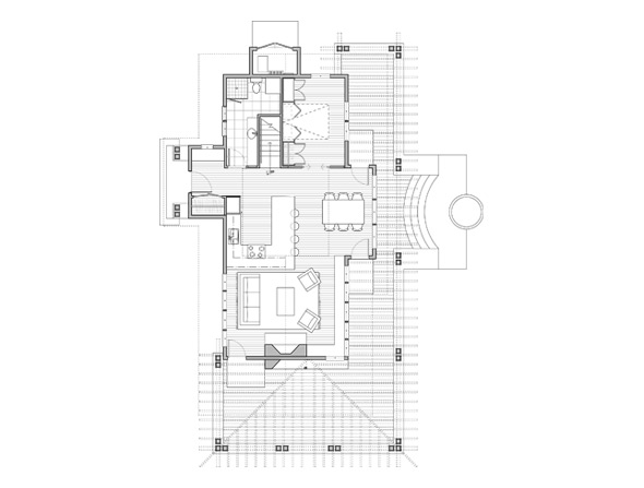 back the hawthorn main level - Little House Plans