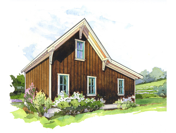 The hollyhock perfect little house for Perfect small house plan
