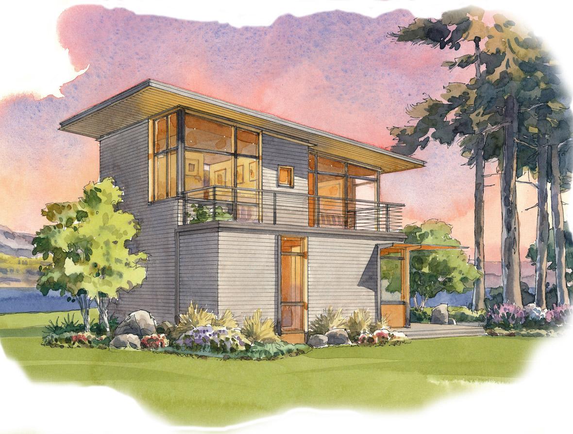 plum 2 front - 33+ Small Unique Home Designs  Pics
